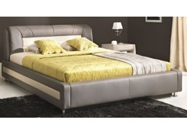 Moderní čalouněná postel s úložným prostorem MONZA plus bílá, 160X200, 180x200
