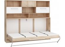 Sklápěcí postel ve skříni s nádstavcem Kity