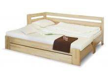 Rozkládací postel s úložným prostorem DUO LUX levá, 90x200, buk