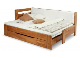 Rozkládací postel na každodenní spaní DUO NINA - levá