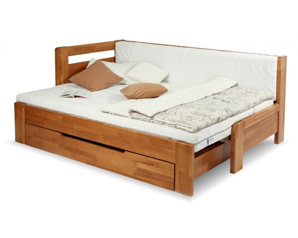 Rozkládací postel na každodenní spaní DUO NINA - levá - Nábytek INTENA d95210eb307