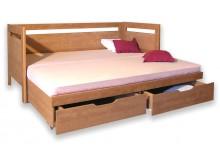 Rozkládací postel s úložným prostorem SÁRA TANDEM