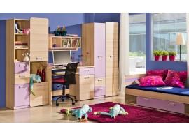 Dětský pokoj Eso, jasan-fialová