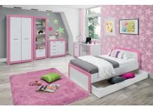 Dětský pokoj Tvin, bílá-růžová