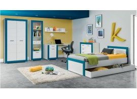 Dětský pokoj Tvin, bílá-modrá