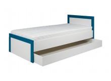 Postel s úložným prostorem Tvin, bílá-modrá (TW13)