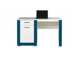 Psací stůl Tvin, bílá-modrá