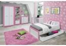 Psací stůl Tvin, bílá-růžová