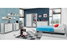 Studentský pokoj Tvin, bílá-šedá