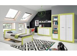 Dětský pokoj Tvin, bílá-zelená