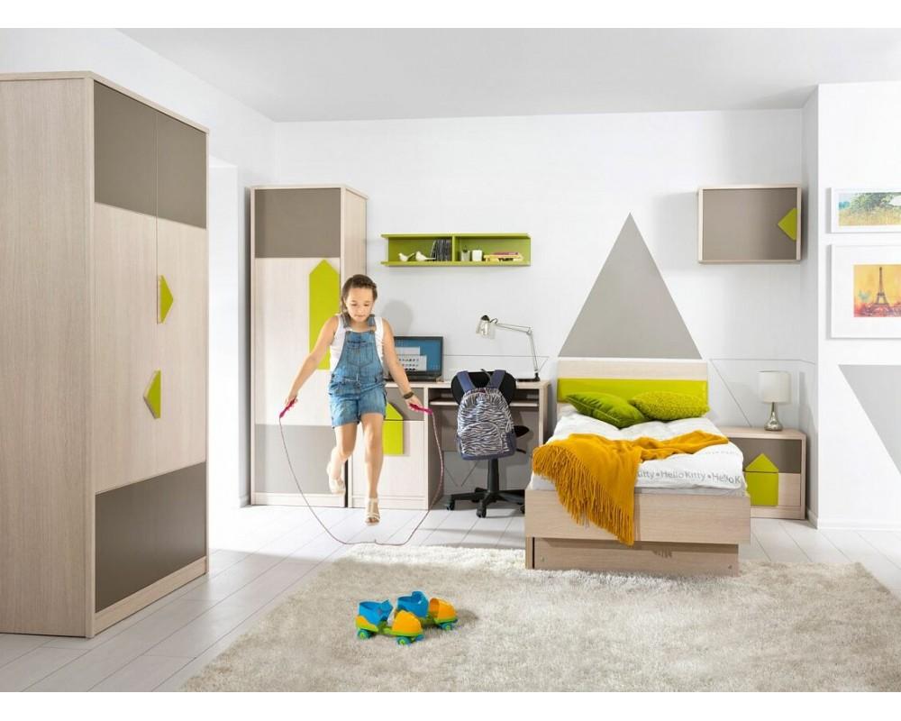 Dětský nábytek STŘELA lamino dub/zelená