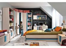 Dětský nábytek CAPS, lamino dub/modrá