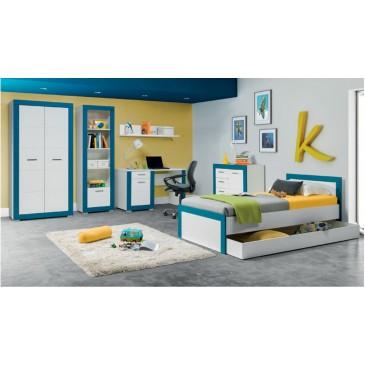 Dětský nábytek Tvin, bílá-modrá