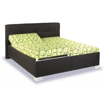 Zvýšená čalouněná postel s úložným prostorem Izidora