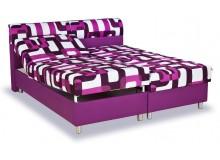 Zvýšená čalouněná postel s úložným prostorem Pamela