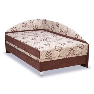 Čalouněná postel s čely a úložným prostorem Alexa, 140x200