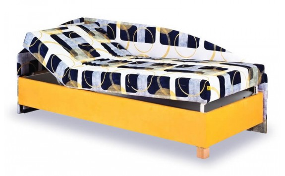 Čalouněná postel s čely a úložným prostorem Roman