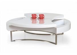 Moderní konferenční stolek AURELA, 100X100, bílá lesk