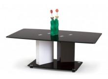 Moderní konferenční stolek DIBRA, 120x70, bílá-černá