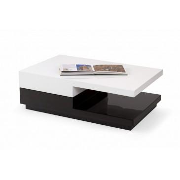 Stylový konferenční stolek MONA, 100x65, bílá-černá