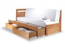 Rozkládací postel s úložným prostorem TANDEM KLASIK levá - oblá, 90x200, BŘÍZA, 1 ks skladem!