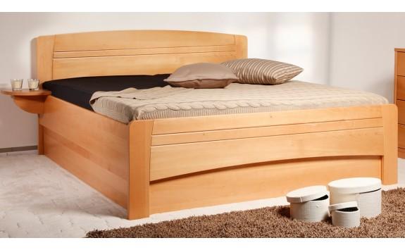 Zvýšená postel s úložným prostorem EVITA 4, 160x200, 180x200, masiv buk