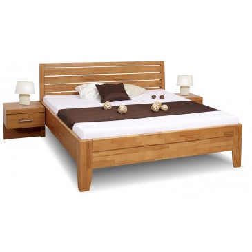 Zvýšená postel z masivu CATHRIN 1, 160x200, 180x200, masiv buk