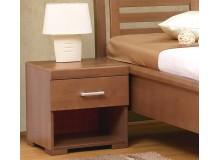 Noční stolek 1 zásuvkový CAROLINA V50, masiv buk