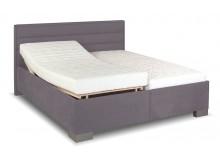 Zvýšená čalouněná postel s úložným prostorem Rebeka de Luxe