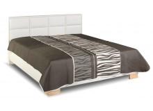 Zvýšená čalouněná postel s úložným prostorem Liliana de Luxe