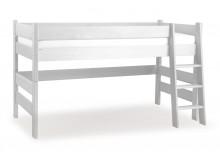 Dětská postel zvýšená Sendy 300/02 W - masiv smrk, bílá