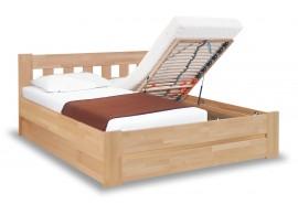 Zvýšená postel s úložným prostorem - dvoulůžko FILIP senior, 160x200