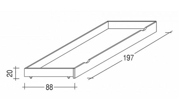Úložný prostor pod postele 032 B, masiv buk