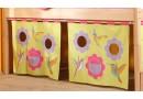 Textilní domeček Louka D259, čelní - ke zvýšeným postelím- Domino