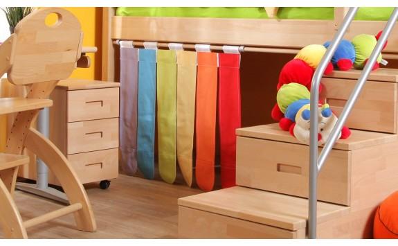 Textilní domeček Duha D258, čelní - ke zvýšeným postelím- Domino