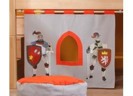 Textilní domeček Hrad D256, čelní - ke zvýšeným postelím- Domino