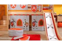 Textilní domeček Hrad D256, boční - ke zvýšeným postelím- Domino