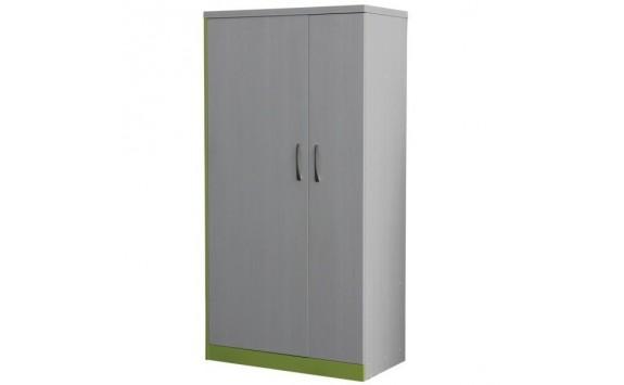 Šatní skříň dvoudvéřová CR106, zelená-bílá