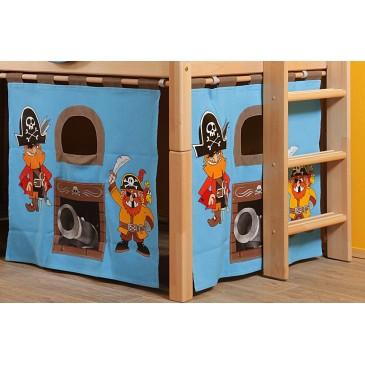 Textilní domeček Pirát D260 - ke zvýšeným postelím- Domino