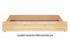 Úložný prostor 3/4 pod postele BW, masiv buk