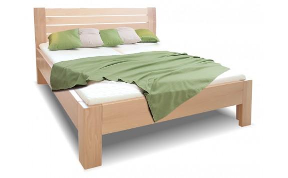 Zvýšená postel z masivu Hugo, 160x200, 180x200, masiv buk
