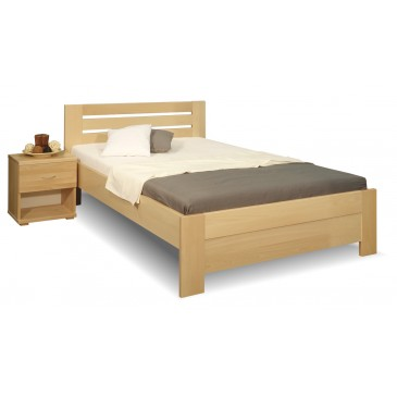 Zvýšená postel z masivu Rita, 120x200, 140x200, masiv buk