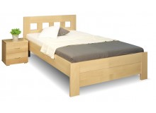 Zvýšená postel z masivu Rocco, 120x200, 140x200, masiv buk