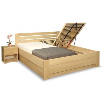 Zvýšená postel s úložným prostorem Rita, 160x200, 180x200, masiv buk