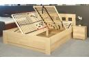 Zvýšená postel s úložným prostorem Rocco, 160x200, 180x200, masiv buk