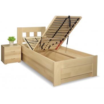 Zvýšená postel s úložným prostorem Rocco, 90x200, 80x200, masiv buk