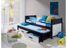 Dětská postel s přistýlkou a úložným prostorem Daniel, masiv borovice