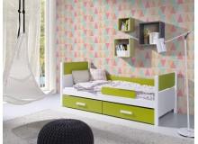 Dětská postel s úložným prostorem Lora, masiv borovice