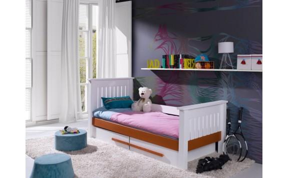Dětská postel s úložným prostorem Karmen, masiv borovice