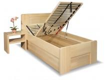 Zvýšená postel s úložným prostorem Dan, 80x200, 90x200, masiv buk